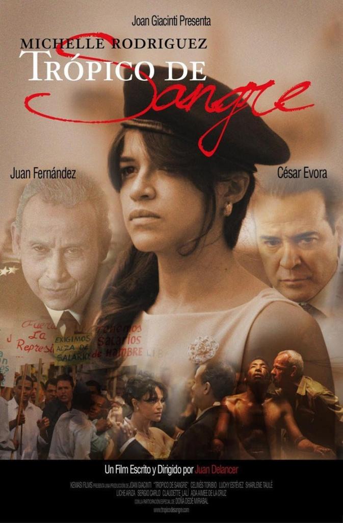 Trópico de sangre es una película dramático-biográfica de 2010 sobre la vida de las hermanas Mirabal, asesinadas el 25 de noviembre de 1960.